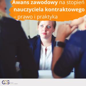 Awans zawodowy na stopień nauczyciela kontraktowego – prawo i praktyka