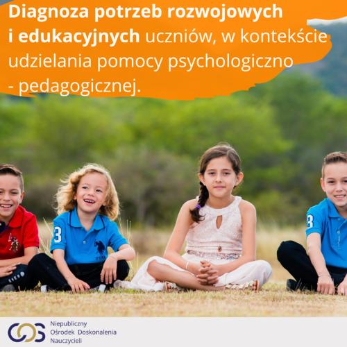 Diagnoza potrzeb rozwojowych i edukacyjnych uczniów, w kontekście udzielania pomocy psychologiczno - pedagogicznej