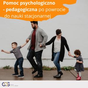Pomoc psychologiczno-pedagogiczna po powrocie do nauki stacjonarnej